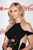 LAS VEGAS - APR 26:  Charlize Theron arrives at the CinemaCon 2012 Talent Awards at Caesars Palace o