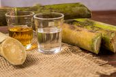 Cachaça Is The Name Of A Typical Alcoholic Drink Produced In Brazil Maked With Sugarcane. Traditiona poster