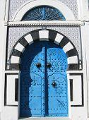 A blue door in Sidi Bou Said, Tunisia