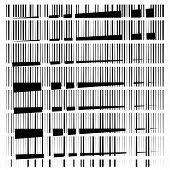Random Grid, Mesh Pattern. Grating, Trellis Texture. Intermittent, Interrupt Lines Lattice. Intersec poster