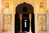 image of courtier  - Traditional door in Nahargarh Fort Museum - JPG