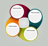 Color abstract fun diagram background for text