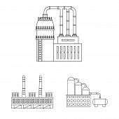 Isolated Object Of Manufacturing And Company Symbol. Collection Of Manufacturing And Structure Stock poster