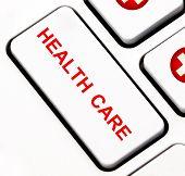 Health care keyboard key