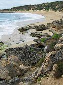 Praia de Perón do ponto