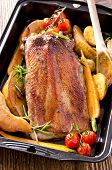 pic of barbary duck  - roasted goose breast with vegetables - JPG