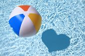 stock photo of pool ball  - Summer love - JPG