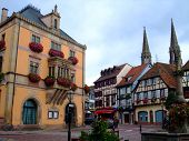Townhall On The Central Place Of Obernai City - Alsace