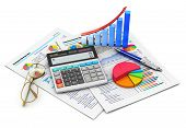 stock photo of calculator  - Business finance - JPG