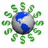 Dólares perto da terra