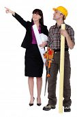 Laborer and architect