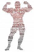 Bodybuilding. Typographic concept