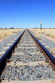 Namibian Desert Railway Line Perspective