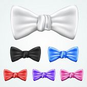 Set of 6 bowties in different colors