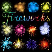 Great highly detailed fireworks set. EPS 10