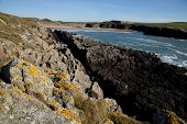 pic of anglesey  - Along the Wales coast path Cable bay Anglesey Wales UK - JPG