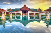 KOH KHO KHAO, THAILAND - NOV 4: Oriental architecture of Andaman Princess Resort & SPA. Hotel was de