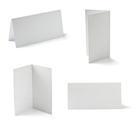 picture of pamphlet  - collection of various folded cards on white background - JPG