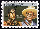 Postage Stamp Nicaragua 1983 Simon Bolivar And General Sandino