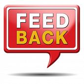feedback or testimonials icon or button. Public comments for improvement and customer satisfaction