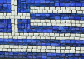 Greece Flag in Mosaic