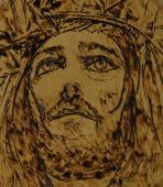 Jesus Woodburning Art