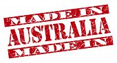 Made In Australia Grunge Red Stamp