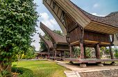 picture of minangkabau  - Themappark with different traditional buildings  - JPG