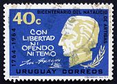 Postage Stamp Uruguay 1965 Artigas, General And Patriot