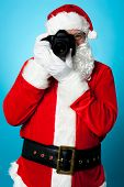 Santa Claus Turns Into A Pro Photographer