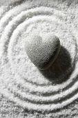 foto of pumice-stone  - Grey zen stone in shape of heart - JPG