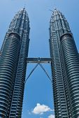 KUALA LUMPUR, MALAYSIA - MAY 5: Petronas Twin Towers in day on May 5, 2011 in Kuala Lumpur. They were the tallest building in the world 1998-2004 and remain the tallest twin building