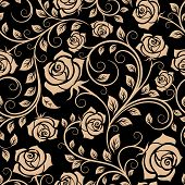 picture of adornment  - Seamless pattern with rose flowers for background design - JPG