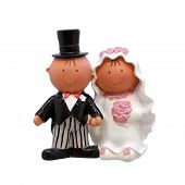 stock photo of figurines  - A wedding couple  - JPG