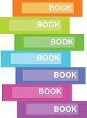 Editable vector illustration of book on a shelf