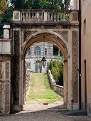 stock photo of torino  - Beautiful villa park near Torino in Italy - JPG