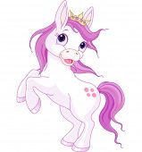 picture of tiara  - Illustration of cute horse princess rearing up - JPG