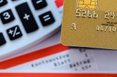 stock photo of statements  - a gold credit card - JPG