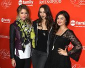 LOS ANGELES - OCT 15:  Ashley Benson, Troian Bellisario, Lucy Hale at the