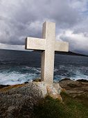Cross Tribute To Sailors Lost At Sea. This Cross Is Located In Galicia, Spain
