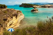 View Of The Bay Of Sidari On Corfu. Canal D'amour