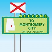 Sign Welcome To Montgomery City