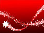 Uma cena de Inverno de Natal de estrelas cadentes