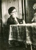 LODZ, POLAND, CIRCA 1940's: Vintage portrait of woman