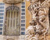 Valencia Palacio Marques de Dos Aguas palace facade in alabaster at Spain