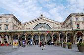 PARIS, FRANCE - MARCH 18, 2014: The exterior of the Gare De L'Est (East Station), one of the main ra