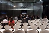 People Listening To A Conference At Miart 2014 In Milan, Italy
