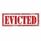 pic of eviction  - Grunge rubber stamp with text Evicted - JPG