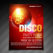 vector disco party flyer brochure poster template design