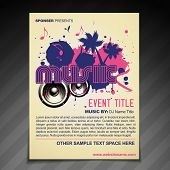 vector music brochure flyer  poster template design